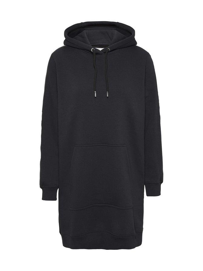Hooded Jersey Logo Tape Dress -collegemekko