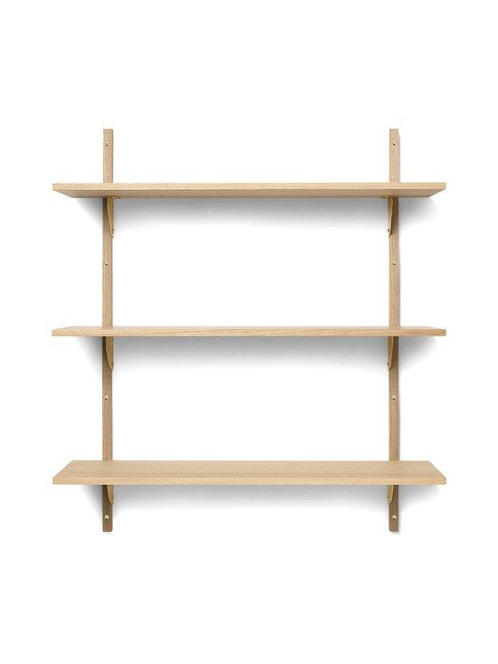 Ferm Living - Sector Shelf Triple Wide -hylly 87 x 102 x 26,1 cm - OAK - BRASS | Stockmann - photo 1
