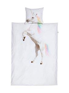 Snurk - Unicorn-pussilakanasetti 150 x 210 + 50 x 60 cm - WHITE | Stockmann