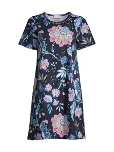 Damella - Flower-yöpaita - 020 020 NAVY | Stockmann