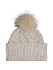 Tommy Hilfiger - TH Effortless Beanie Pom Pom -pipo - PDV OATMEAL | Stockmann