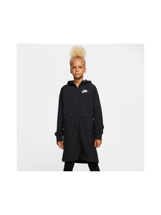 Nike - Sportswear Older Kids' Fleece Parka -takki - BLACK/BLACK/ATMOSPHERE GREY   Stockmann - photo 3