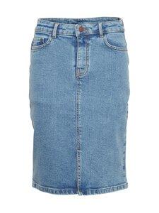 Moss Copenhagen - Calissa Rikka Short HW Denim Skirt -farkkuhame - VINTAGE L BLUE   Stockmann