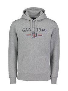 GANT - D1. 1949 Crest Sweat Hoodie -huppari - 93 GREY MELANGE   Stockmann