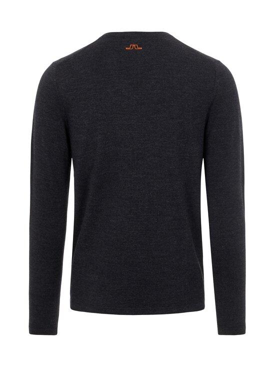 J.Lindeberg - Clas V-Neck Golf Sweater -merinovillaneule - 9992 BLACK MELANGE | Stockmann - photo 2