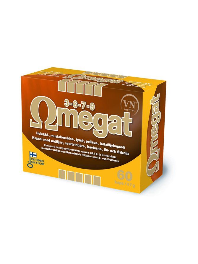 Omegat 3-6-7-9 -ravintolisä 140 kaps./109 g