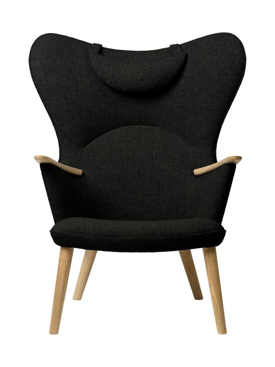 Carl Hansen&Son - CH78 Mama Bear -nojatuoli + niskatyyny - 991 DARK GREEN FIORD | Stockmann - photo 1