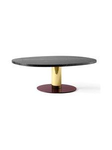 &tradition - Mezcla JH21 -pöytä 120 x 90 x 40 cm - NERO MARQUINA / BRASS / BURGUNDY | Stockmann