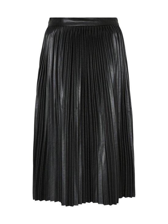 Noisy may - NmHill High Waist Polyurethane Pleated Skirt -tekonahkahame - BLACK | Stockmann - photo 2