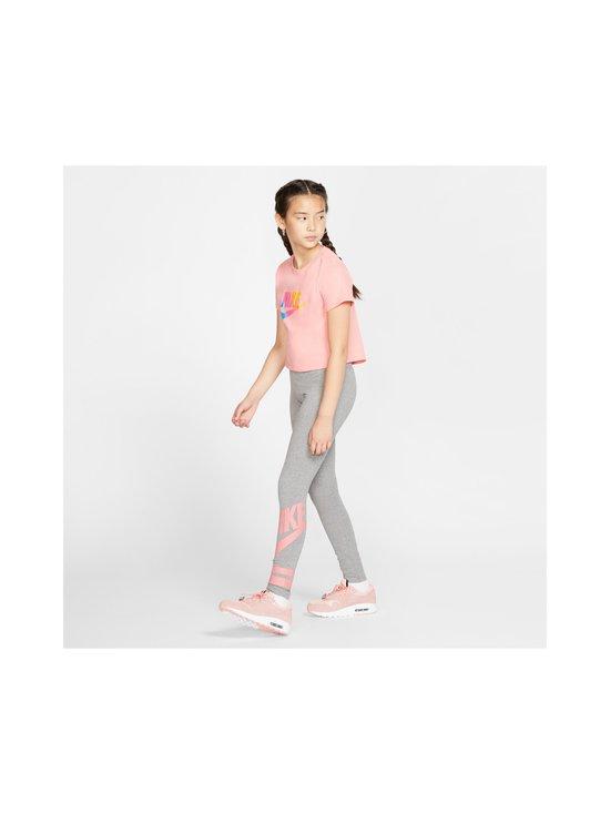 Nike - Sportswear Older Kids' Graphic Leggings -leggingsit - CARBON HEATHER/PINK GAZE | Stockmann - photo 6