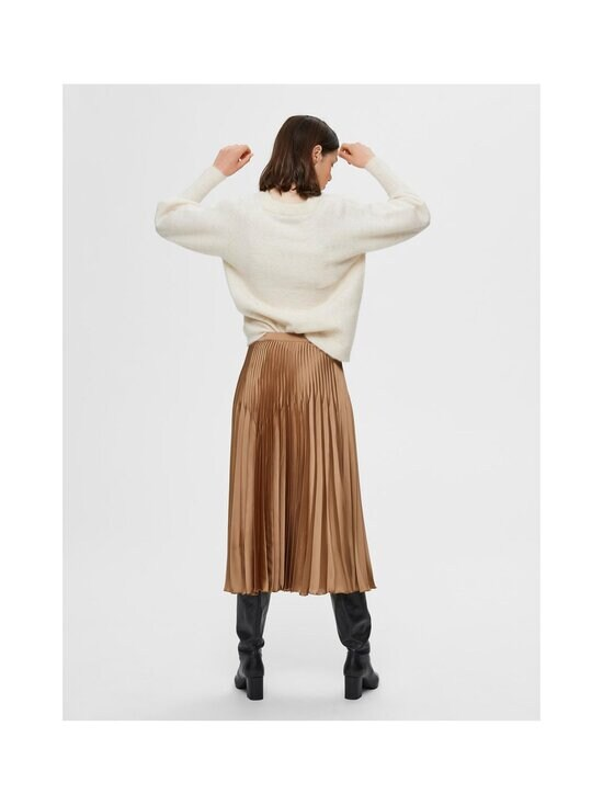 Selected - SlfHarmony MW Midi Pleated Skirt -hame - TIGERS EYE | Stockmann - photo 2