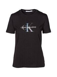 Calvin Klein Jeans - Reflective Monogram Tee -paita - BEH CK BLACK | Stockmann