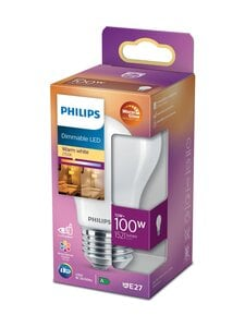 Philips - LED Classic 100W A60 E27 Dimmable -lamppu - WHITE | Stockmann