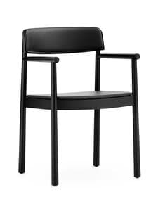 Normann Copenhagen - Timb Armchair -tuoli, nahkaverhoilu - BLACK/ ULTRA LEATHER - BLACK   Stockmann