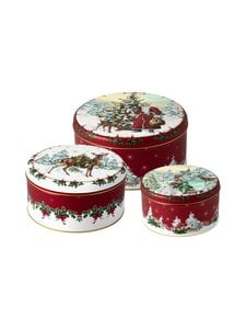 Villeroy & Boch - Winter Collage Accessoires Cookie Box Set -keksipurkki 3 kpl - MULTICO | Stockmann