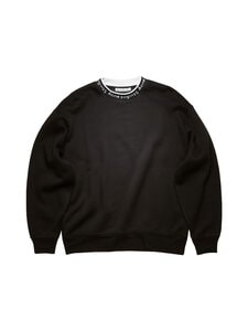 Acne Studios - Logo Crewneck Sweatshirt -collegepaita - BLACK | Stockmann