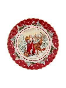 Villeroy & Boch - Toy's Fantasy Santa with Forest Animals Large Bowl -tarjoilukulho 25 cm - VALKOINEN/PUNAINEN | Stockmann