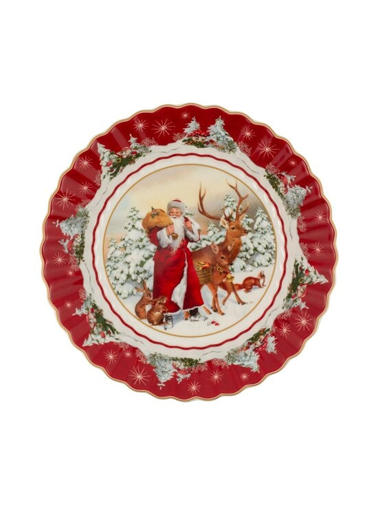 Villeroy & Boch - Toy's Fantasy Santa with Forest Animals Large Bowl -tarjoilukulho 25 cm - VALKOINEN/PUNAINEN | Stockmann - photo 1
