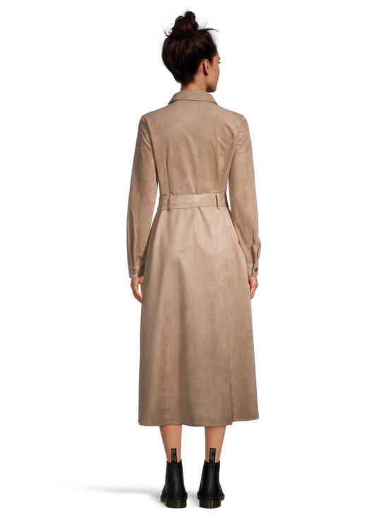 Utility Faux Suede Shirt Dress -paitamekko