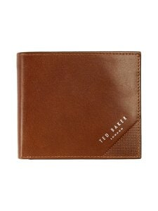 Ted Baker London - Prug Leather Bifold Wallet With Coin Pocket -nahkalompakko - 24 TAN | Stockmann