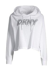 DKNY Sport - Raglan Hoodie Rhinestone Logo -huppari - WHT WHITE | Stockmann