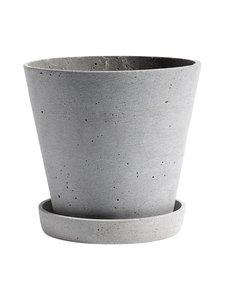 HAY - Ruukku ja aluslautanen L ø 17,5 cm - HARMAA | Stockmann