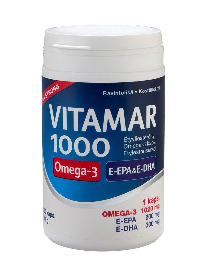 VITAMAR 1000 Omega 3 -kalaöljykapseli 100 kaps./161 g