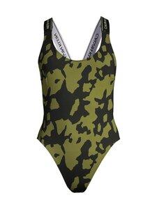 Calvin Klein Underwear - WB-HIGH LEG ONE PIECE-PRINT -uimapuku - 0GV BLACK CUT OUT PRINT | Stockmann