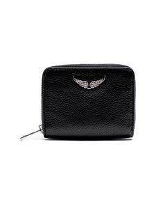 Zadig&Voltaire - Mini ZV Wallet -nahkalompakko - NOIR BLACK | Stockmann