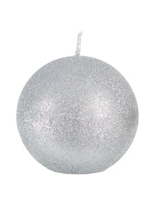Balmuir - Glitter Ball -pallokynttilä 10 cm - SILVER (HOPEA) | Stockmann