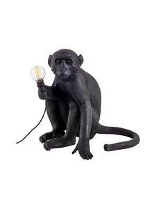 Seletti - Monkey Lamp Black Sitting -pöytävalaisin - MUSTA | Stockmann