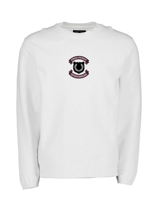 Fred Perry - Shield Sweatshirt -collegepaita - 129 SNOW WHITE | Stockmann - photo 1