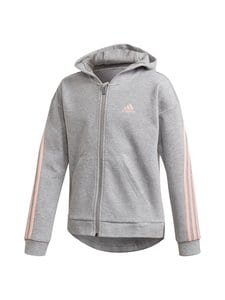 adidas Performance - 3-Stripes Full-Zip -hupparitakki - MGREYH/HAZCOR | Stockmann