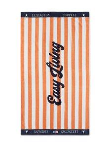 Lexington - Graphic Cotton Velour Beach Towel -pyyhe 100 x 180 cm - PEACH MELON/WHITE | Stockmann
