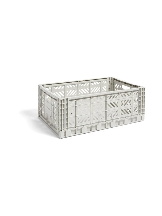 HAY - Colour Crate L -laatikko 60 x 40 x 22 cm - LIGHT GREY | Stockmann - photo 1
