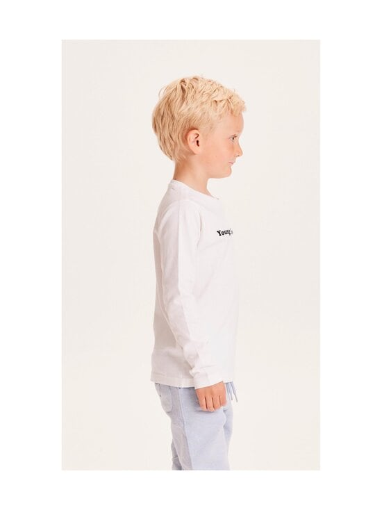 Knowledge Cotton Apparel - Flax Young Knowledge Long Sleeve -paita - 1010 BRIGHT WHITE   Stockmann - photo 3