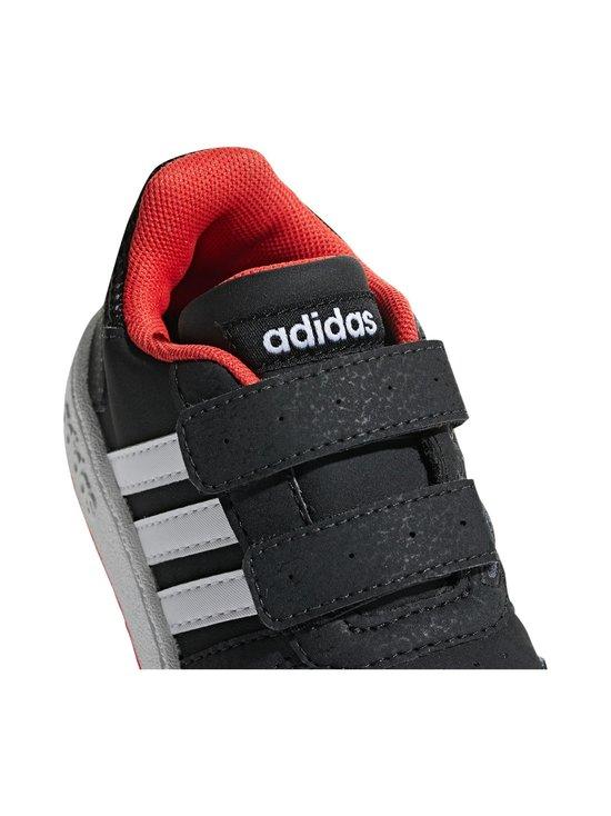 adidas Performance - Hoops 2.0 -kengät - CORE BLACK / CLOUD WHITE / HI-RES RED | Stockmann - photo 9