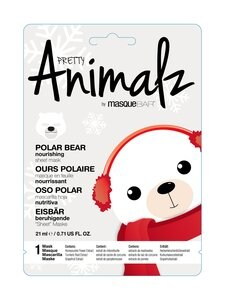 Masque Bar - Pretty Animalz Holiday Polar Bear Nourishing Sheet Mask -kasvonaamio - null | Stockmann