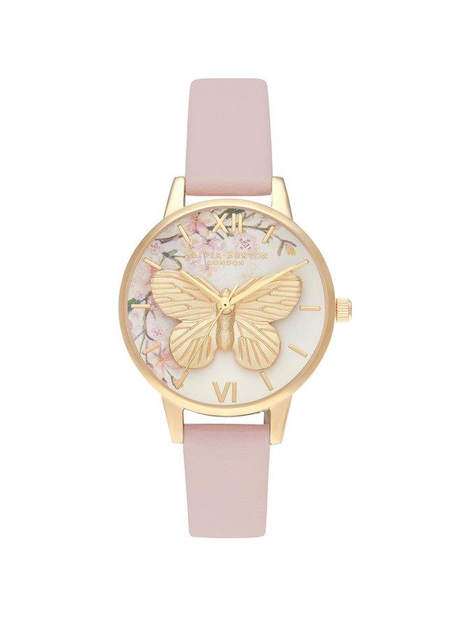 Pretty Blossom 3D Butterfly -rannekello