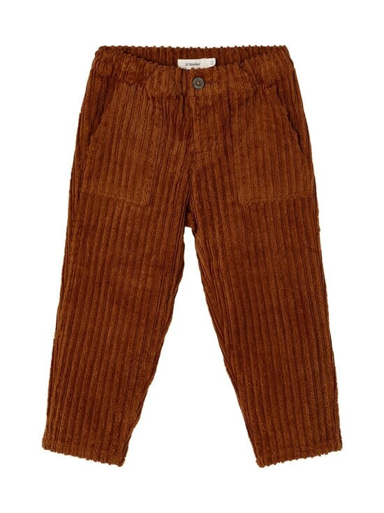 Lil' Atelier - NMNELLERY LOOSE ANCLE CORD  -housut - TORTOISE SHELL | Stockmann - photo 1