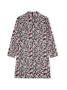 Ganni - Printed Crepe Mini Dress -mekko - PHANTOM | Stockmann
