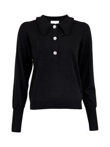 Neo Noir - Gemma Diamond Knit Blouse -neule - 100 BLACK | Stockmann
