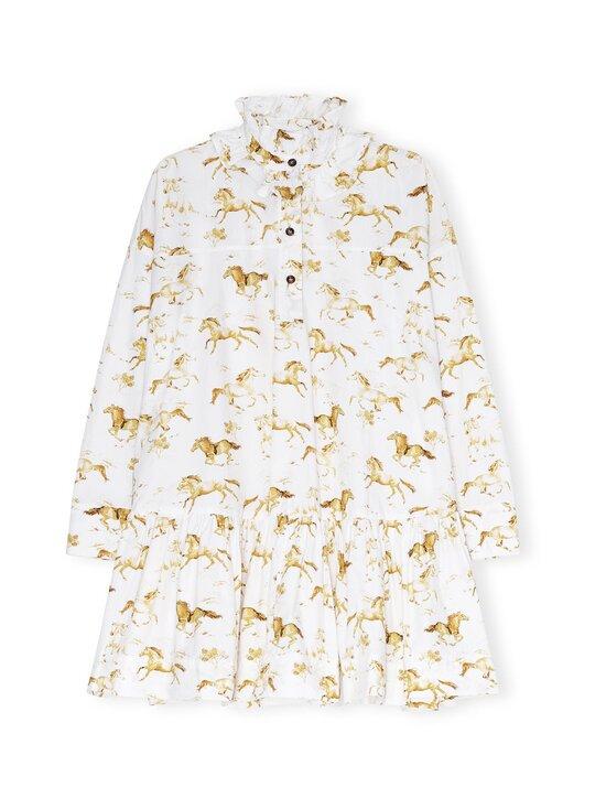 Ganni - Printed Cotton Poplin Oversized Dress -mekko - COGNAC | Stockmann - photo 1