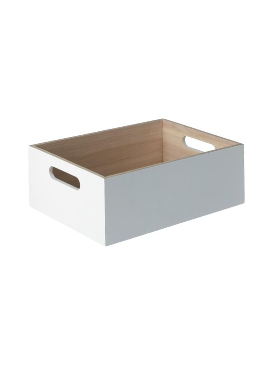 Casa Stockmann - Fina L -puulaatikko 30 x 22 x 11 cm - WHITE | Stockmann - photo 1