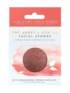 Konjac Sponge - Premium Facial Puff French Red Clay -ihonpuhdistussieni | Stockmann