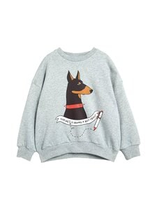 Mini Rodini - Doberman-collegepaita - GREY MELANGE | Stockmann