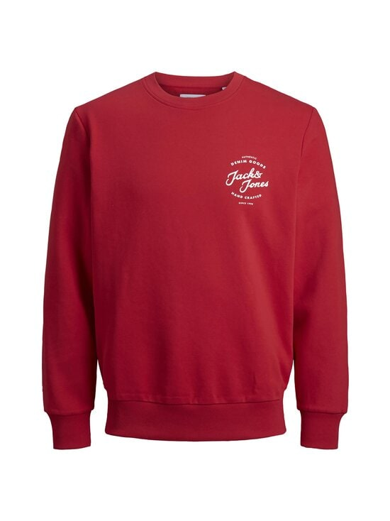 Jack & Jones - JjHero Sweat Crew -collegepaita - TANGO RED PRINT:JJ ORG - REG | Stockmann - photo 1