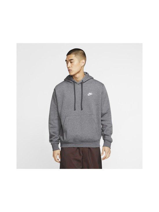 Nike - Sportswear Club Fleece -huppari - 071 CHARCOAL HEATHR/ANTHRACITE/WHITE   Stockmann - photo 3