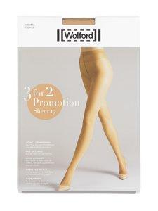 Wolford - Sheer 15 den -sukkahousut 3-pack - 4738 FAIRLY LIGHT | Stockmann