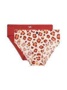 Sanetta - Girl Slip Leo Flower -alushousut 2-pack - 38137 ROSEWOOD | Stockmann
